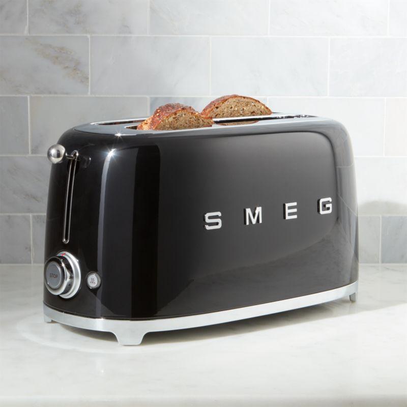 Smeg Black 4 Slice Toaster Reviews Crate And Barrel