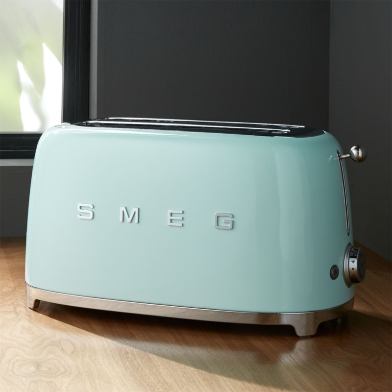 Smeg Mint Green 4 Slice Toaster Reviews Crate And Barrel