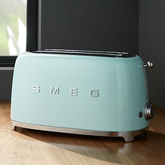 Smeg Mint Green 4 Slice Toaster Crate And Barrel