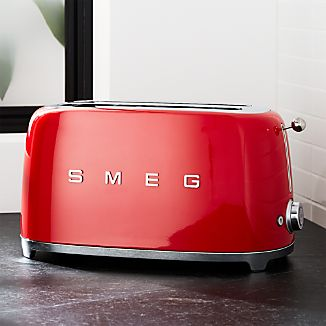 Smeg Red 4-Slice Retro Toaster