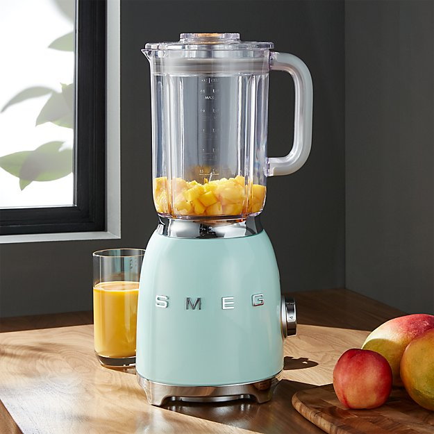 Smeg Pastel Green Retro Blender + Reviews | Crate and Barrel