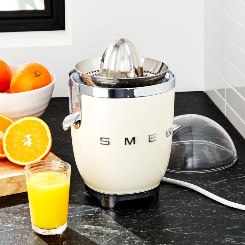 Smeg Cream Citrus Juicer Reviews Crate And Barrel