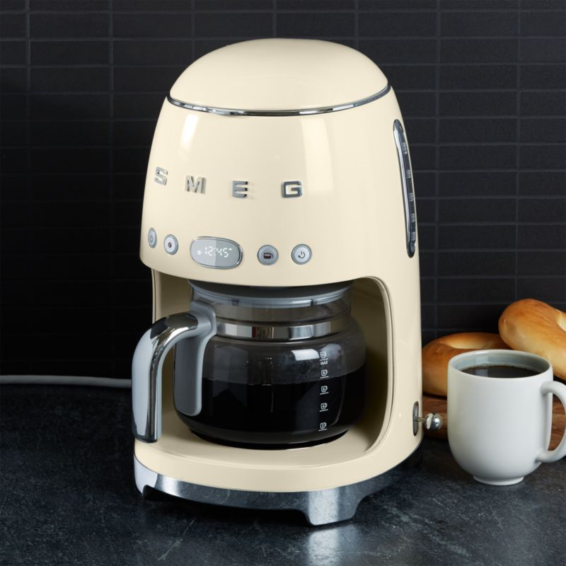 SMEG Cream Drip Coffee Maker + Reviews | Crate and Barrel ...