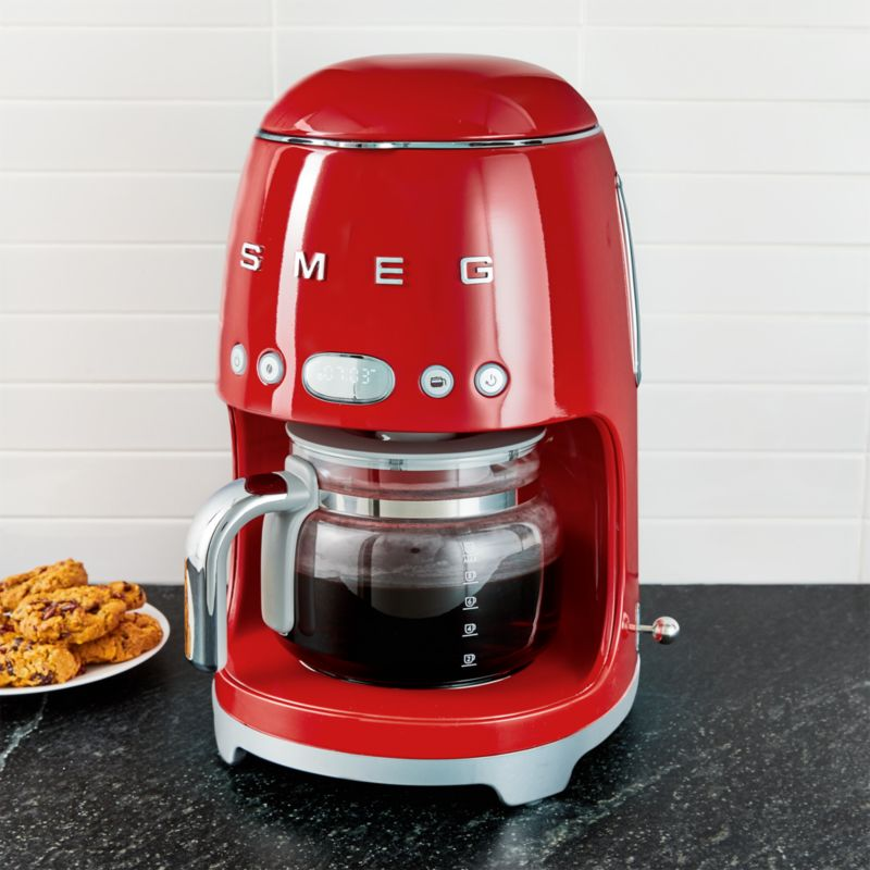 Smeg Red Drip Coffeemaker Reviews Crate And Barrel
