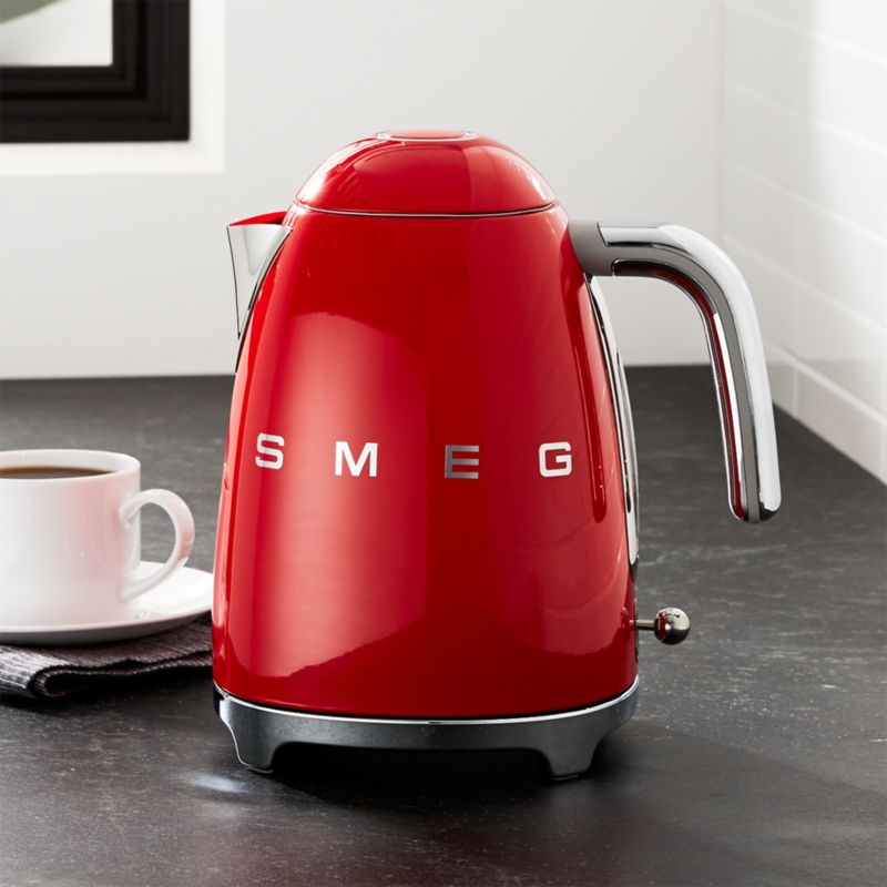Smeg Red Retro Electric Kettle Reviews Crate And Barrel