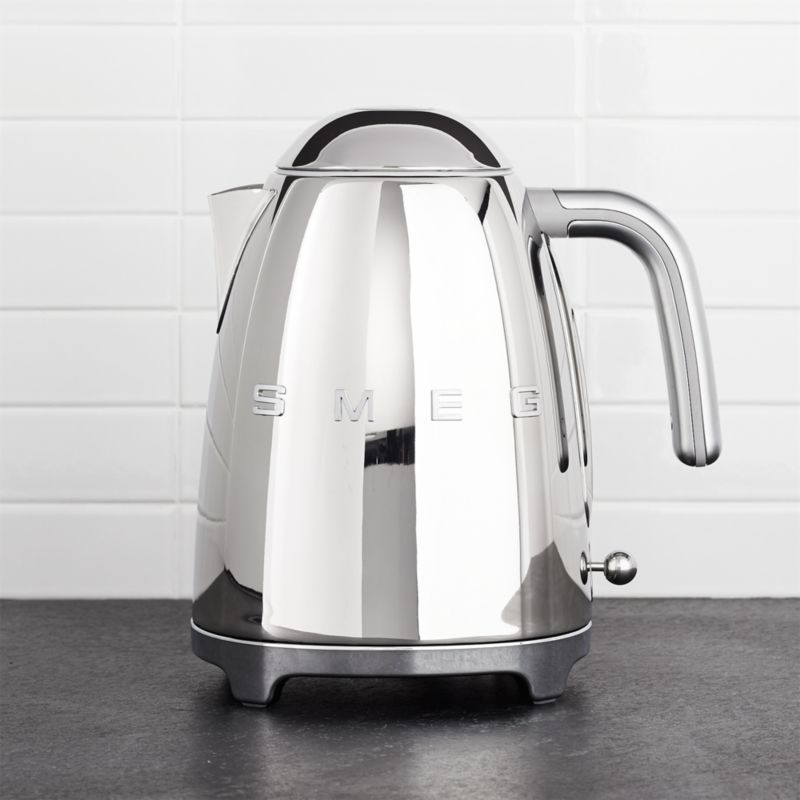 Smeg Silver Retro Electric Kettle Reviews Crate And Barrel