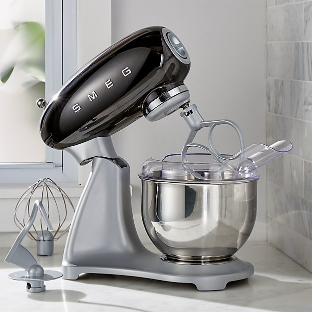 Smeg Black Retro Stand Mixer Reviews Crate And Barrel