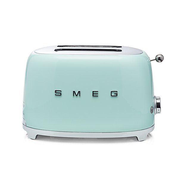 Smeg pastel green 2 slice retro toaster reviews crate and barrel - Grille pain smeg solde ...