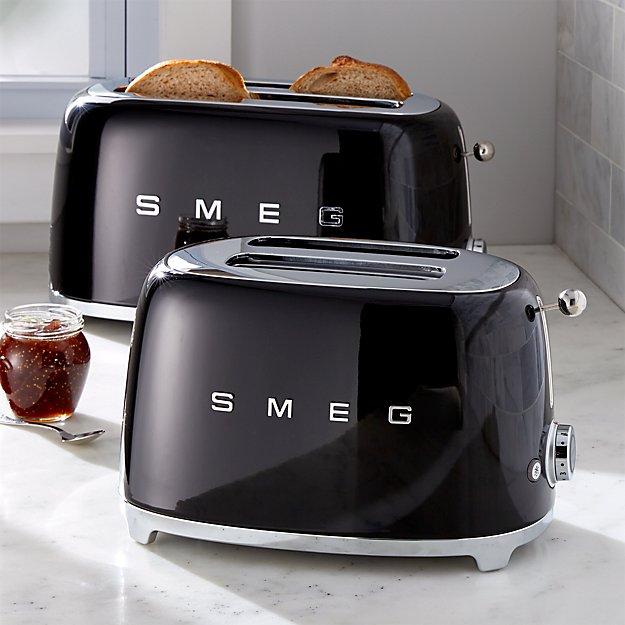 Smeg Black Retro Toasters