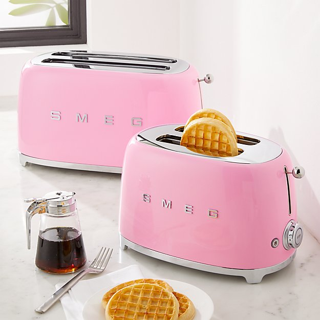 Smeg Pink Toaster Crate And Barrel
