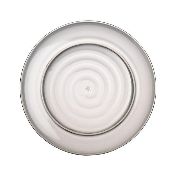 """Smoke Acrylic 14"""" Serving Platter"""