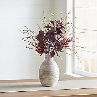 Silk flowers and artificial plants crate and barrel smoke bush faux flower arrangement mightylinksfo