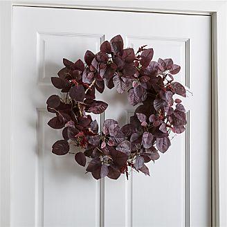 Silk flowers and artificial plants crate and barrel smoke bush wreath mightylinksfo