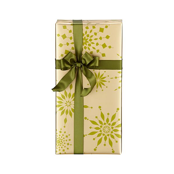 Green and Gold Snowburst Gift Wrap