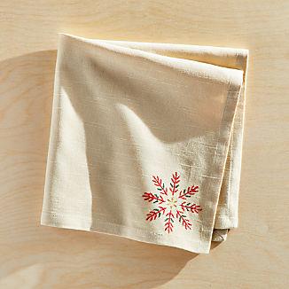 Snowflake Burst Embroidered Napkin