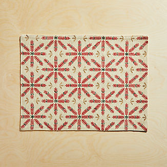Snowflake Burst Embroidered Placemat