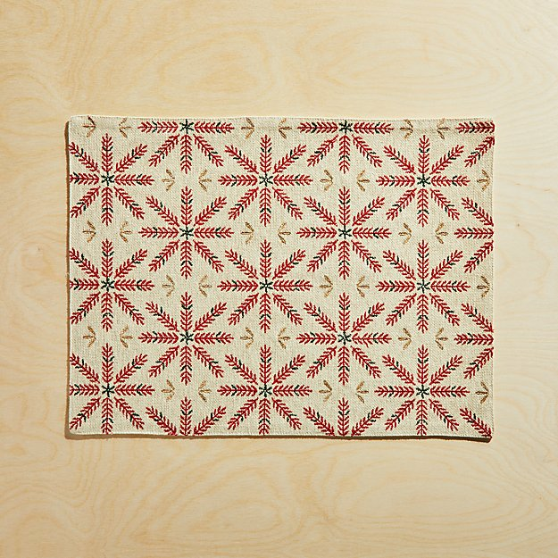 Snowflake Burst Embroidered Placemat - Image 1 of 4