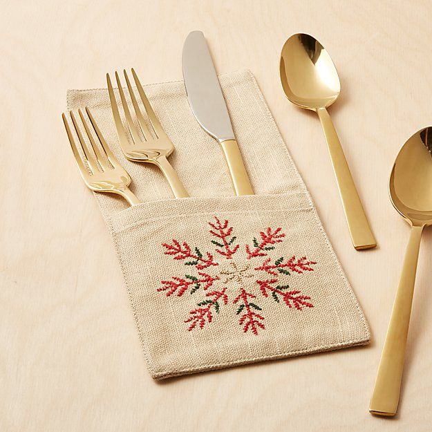 Snowflake Burst Flatware Pouch - Image 1 of 2