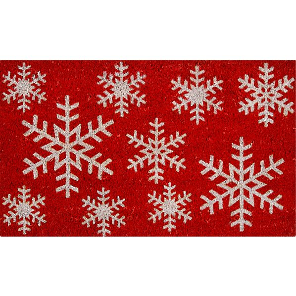 """Snowflake 30""""x18"""" Doormat"""