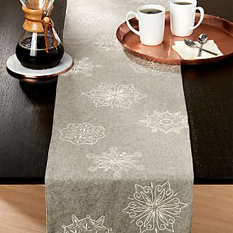Table Runners Linen Cotton And Polyester Crate And Barrel