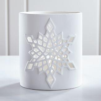 Snowflake Hurricane Candle Holder