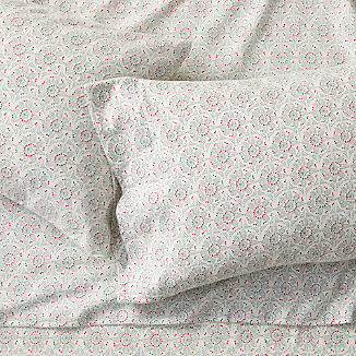 Organic Cotton Flannel Snowflake Sheet Set