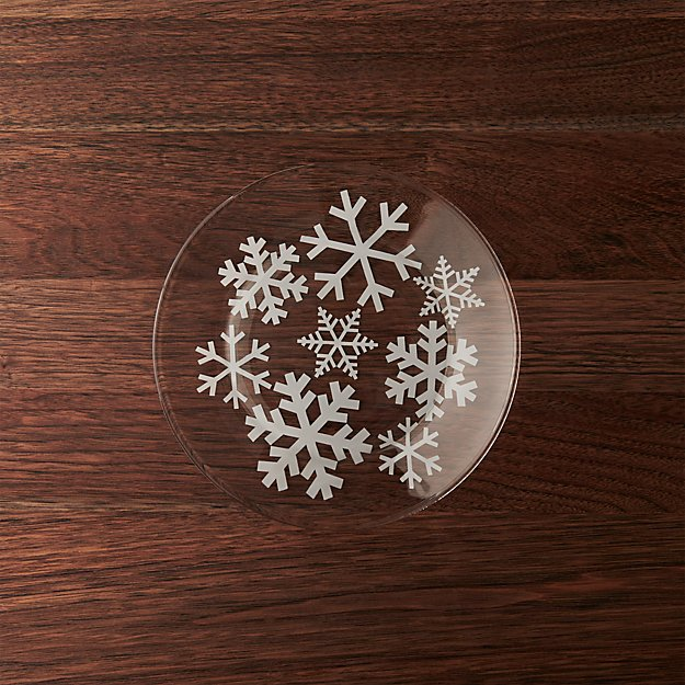 Glass Snowflake Salad Plate Crate And Barrel