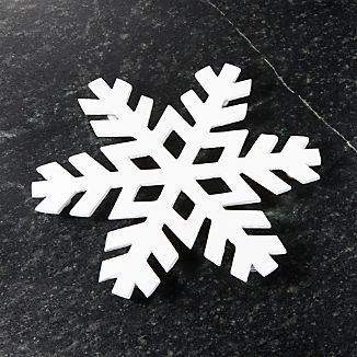 White Snowflake Trivet
