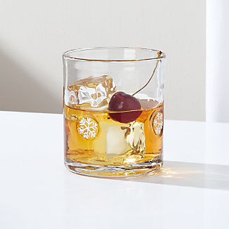Snowflakes Double Old-Fashioned Glass