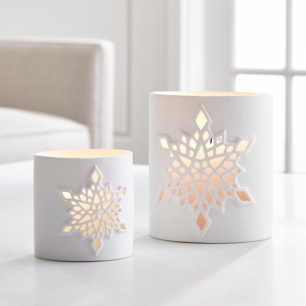 Snowflake Candle Holders - Image 1 of 7