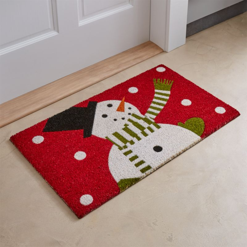 Snowman Doormat