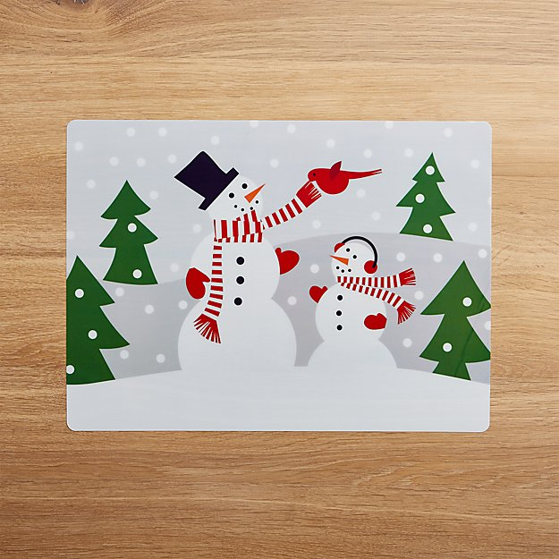 Snowman Easy Care Placemat
