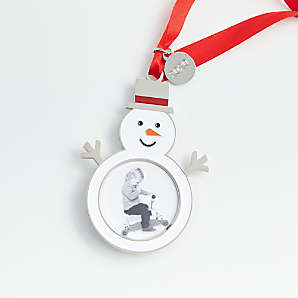 Christmas Picture Frame Ornaments 2020 | Crate and Barrel