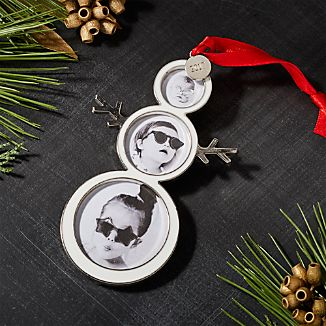 Snowman Ornament Frame with 2017 Charm