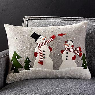 snowman and friends pillow 22x15 - Christmas Pillows