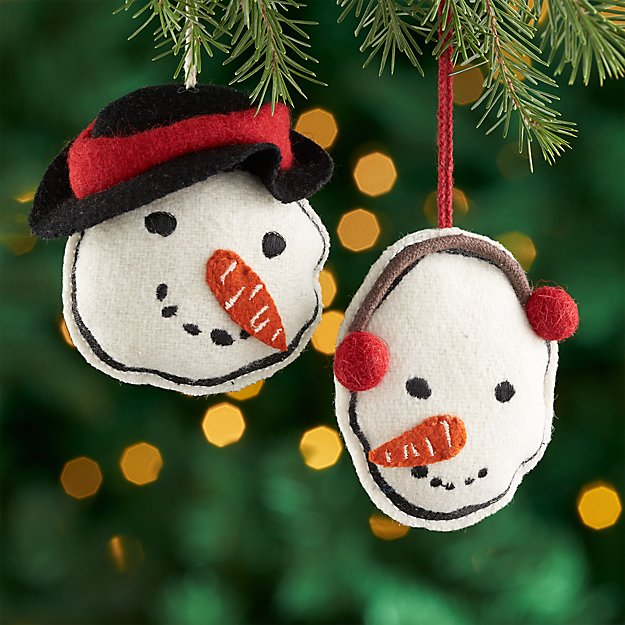 Rustic Snowman Ornaments