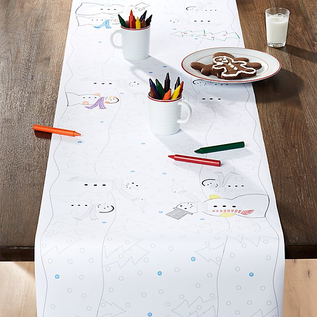 Snowman Paper Table Runner