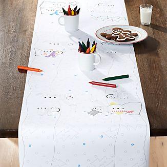 Snowman Paper Table Runner