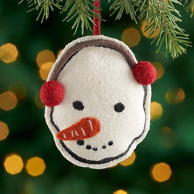 Rustic Snowman Ornament with Earmuffs