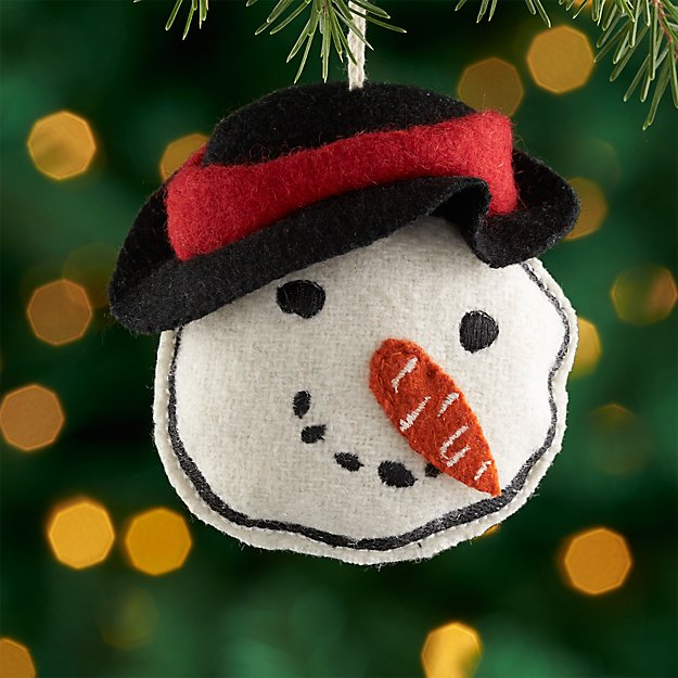 Rustic Snowman Ornament with Hat
