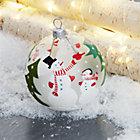 SnowmanWSnowballClear8cmSHF17