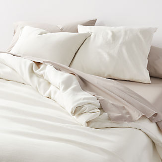 Soft Linen Natural Duvet Covers and Pillow Shams