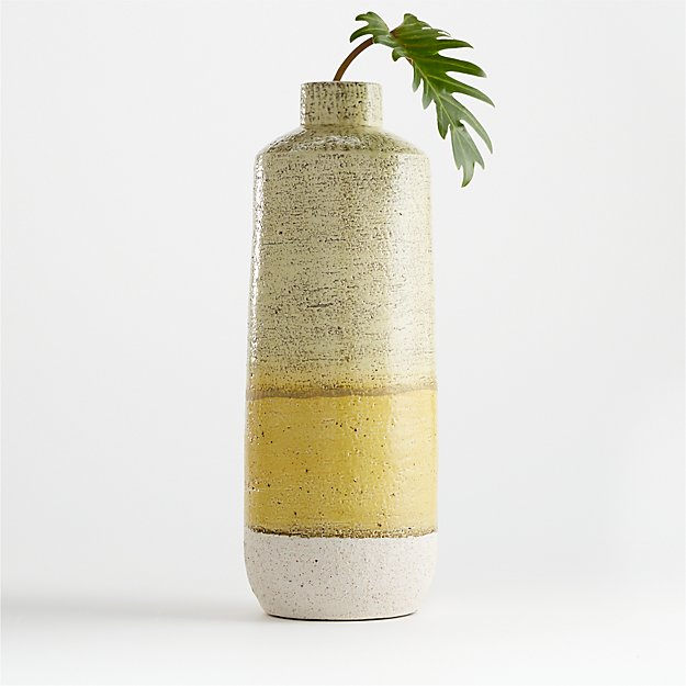 Sol Yellow Ceramic Vase - Image 1 of 8