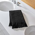 Sola Black Guest Towel