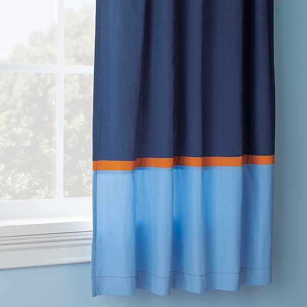 Kids Curtains Kids Navy And Light Blue Curtains With