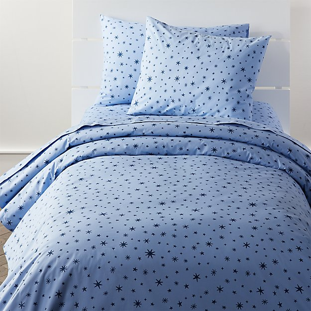 Kids Bedding Blue Stars Duvet Cover Crate And Barrel