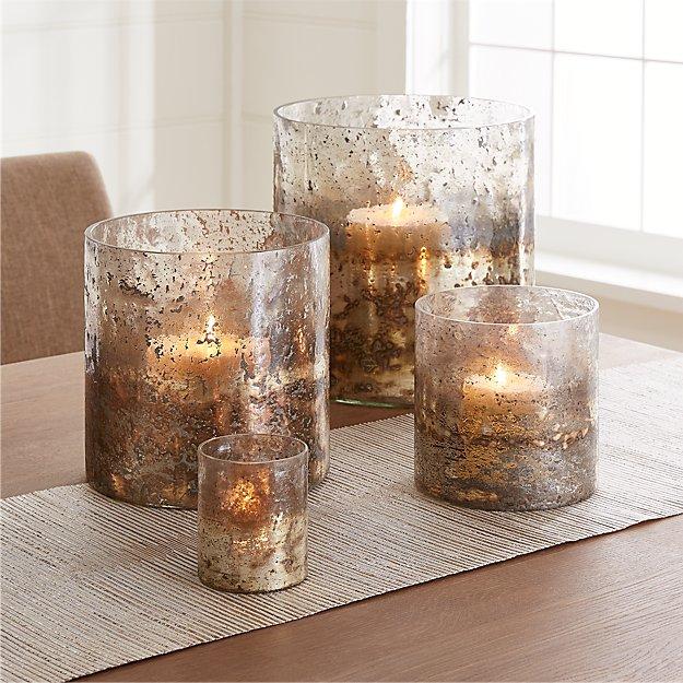Sona Glass Hurricane Candle Holders Crate And Barrel
