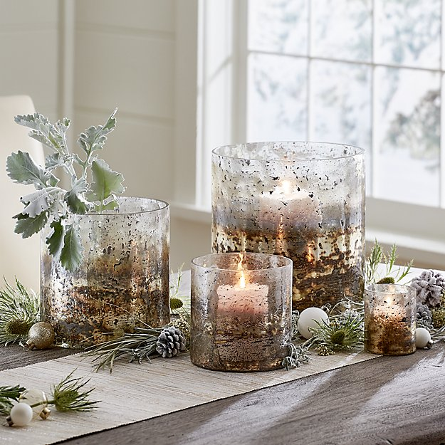 Sona Glass Hurricane Candle Holders - Image 1 of 12