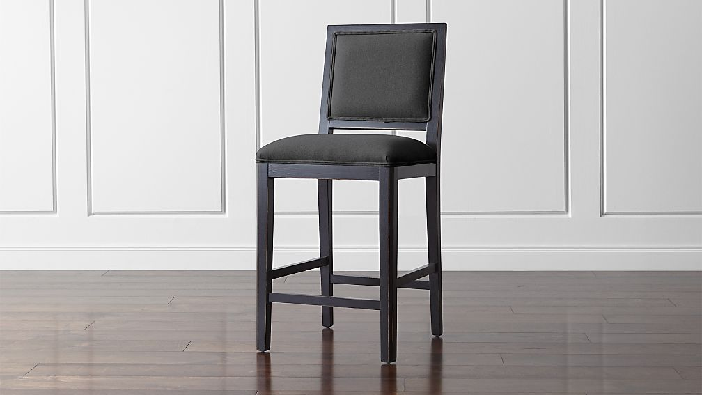 Sonata Bruno Black Counter Stool ... & Sonata Bruno Black Counter Stool | Crate and Barrel islam-shia.org