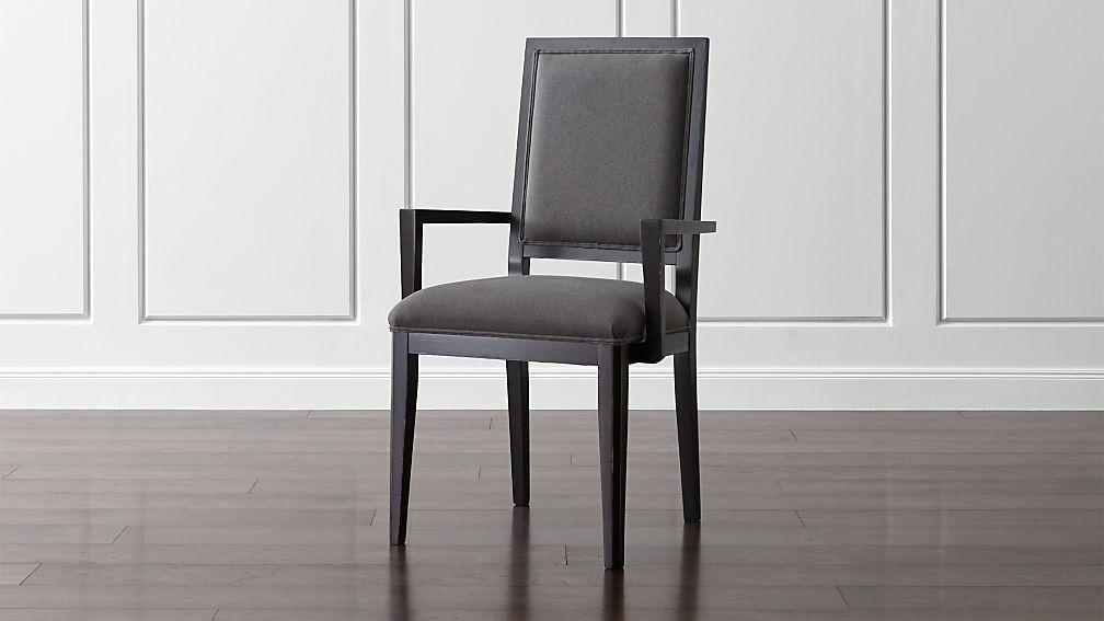 Sonata Bruno Black Dining Arm Chair - Image 1 of 7